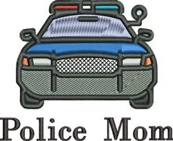 Police Mom embroidery design