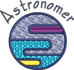 Astronomer embroidery design