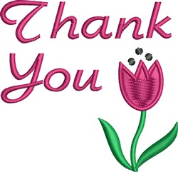 Thank You Tulip embroidery design