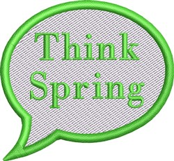 Think Spring Conversation Bubble embroidery design