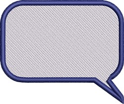Blank Rectangle Conversation Bubble embroidery design