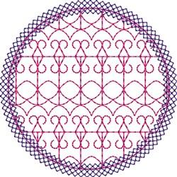Purple Circle Accent embroidery design