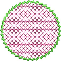 Circle Accent embroidery design