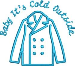 Blue Jacket Outline embroidery design