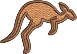 Hopping Kangaroo embroidery design