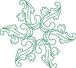 Leafy Monogram Accent embroidery design
