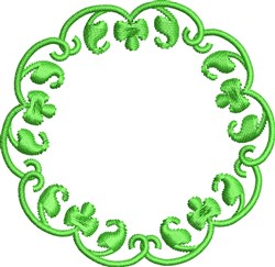Green Circle Accent embroidery design
