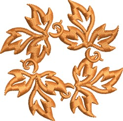 Fall Leaves Accent embroidery design
