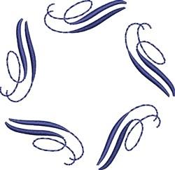 Elegant Blue Swirls embroidery design