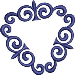 Triangle Swirl Accent embroidery design
