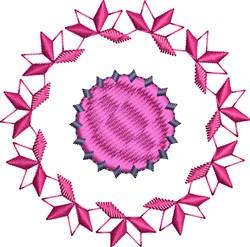 Purple Motif Circle embroidery design