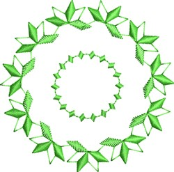Green Motif Circle embroidery design