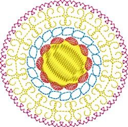 Decorative Motif Circle embroidery design