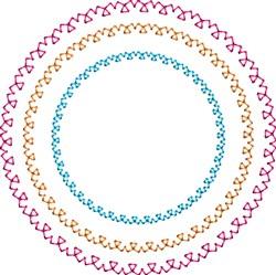 Motif Circles embroidery design
