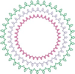 Motif Circles embroidery design
