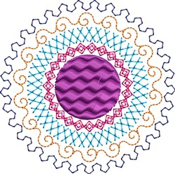 Motif Circle embroidery design