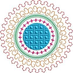 Motif Circle & Swirls embroidery design