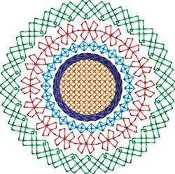 Motif Circle embroidery design