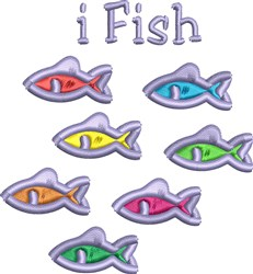 iFish embroidery design