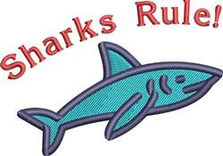 Sharks Rule! embroidery design