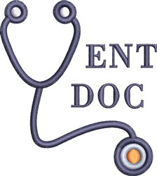 ENT Docs Stethoscope embroidery design