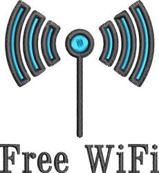 Free WiFi embroidery design