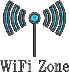 WiFi Zone embroidery design