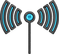 WiFi Antenna embroidery design