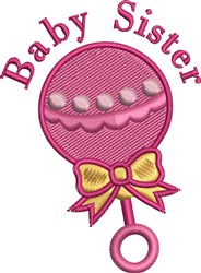 Baby Sister embroidery design