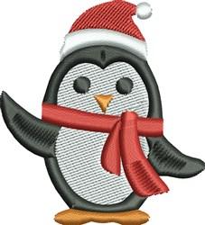Christmas Penquin embroidery design