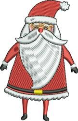 Cool Santa embroidery design