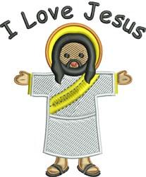 I Love Jesus embroidery design