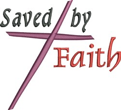 Saved By Faith embroidery design
