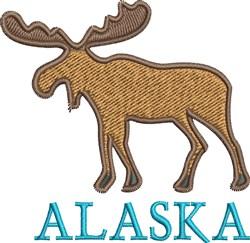 Alaska Moose embroidery design