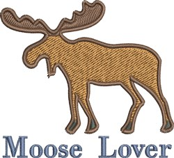 Moose Lover embroidery design
