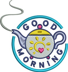Morning Teapot embroidery design