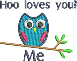 Hoo Loves You Owl embroidery design