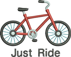 Just Ride embroidery design