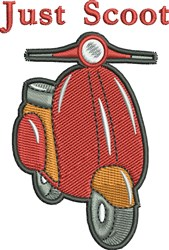 Just Scoot Scooter embroidery design