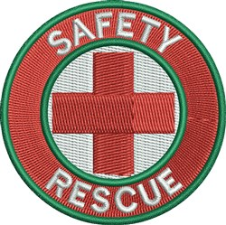 Safety Rescue embroidery design
