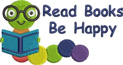 Read Books, Be Happy embroidery design