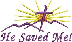 He Saved Me! embroidery design
