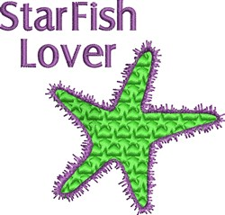 Starfish Lover embroidery design