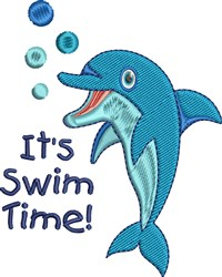Its Swim Time! embroidery design