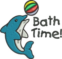 Bath Time Dolphin embroidery design
