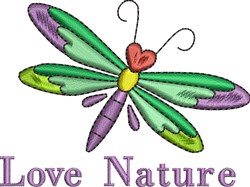 Colorful Dragonfly embroidery design