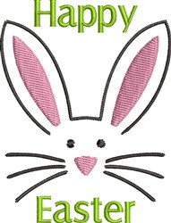 Easter Bunny Face embroidery design