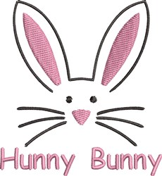 Hunny Easter Bunny embroidery design