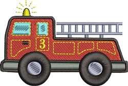 Fire Engine embroidery design
