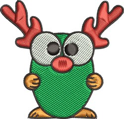 Funny Christmas Deer embroidery design
